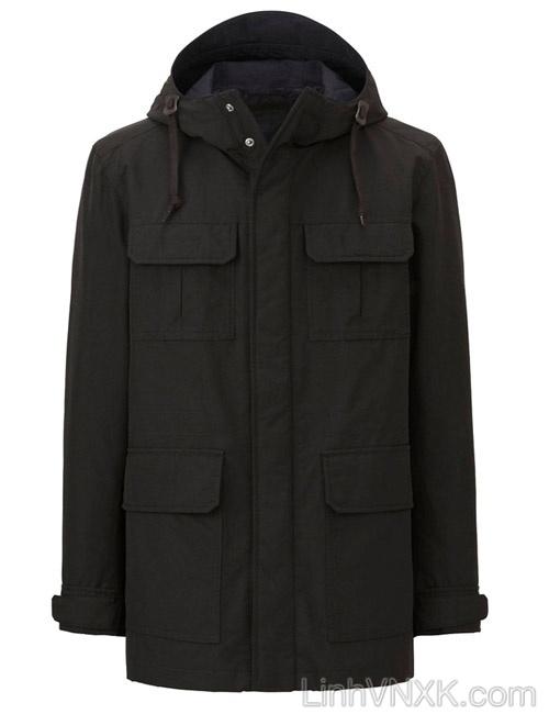 Áo khoác kaki nam Uniqlo xuất khẩu xịn màu đen