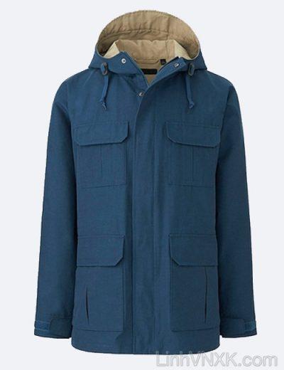 Áo khoác kaki nam Uniqlo xuất khẩu xịn màu xanh blue
