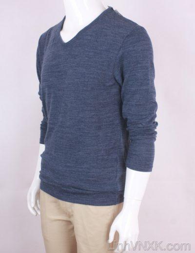 Áo len mỏng cổ tim xuất Nhật màu xanh navy