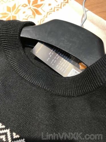 Áo len nam xuất khẩu họa tiết