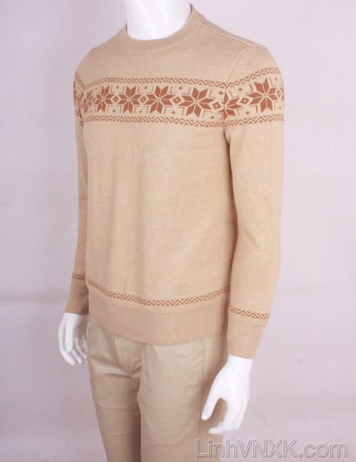 Áo len nam xuất khẩu họa tiết màu be