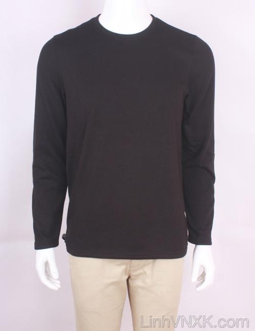 Áo len nỉ lót lông xuất Mỹ Croft&Barrow màu đen