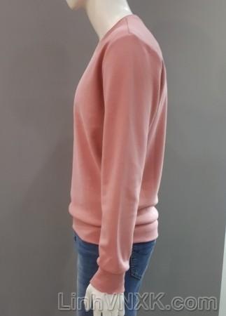 Áo nỉ bông TBJ xuất Hàn màu hồng be