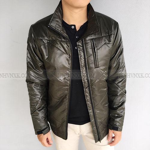 Áo khoác phao siêu nhẹ màu rêu