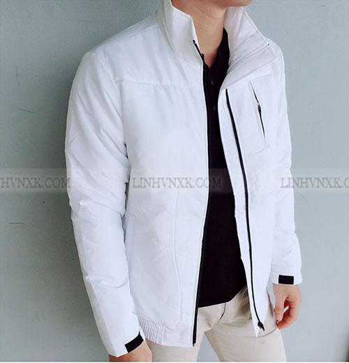 Áo khoác phao siêu nhẹ màu trắng