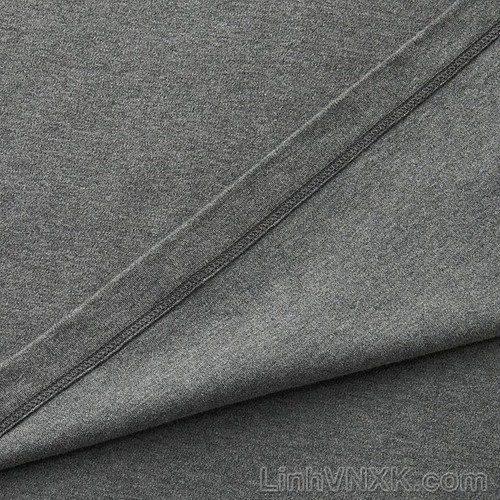 Áo thun nam cổ 3cm uniqlo xuất khẩu màu lông chuột