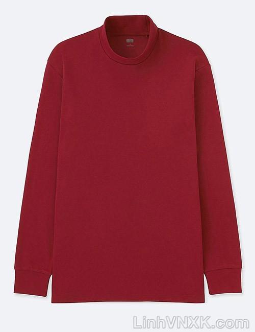 Áo thun nam cổ 3cm uniqlo xuất khẩu màu đỏ
