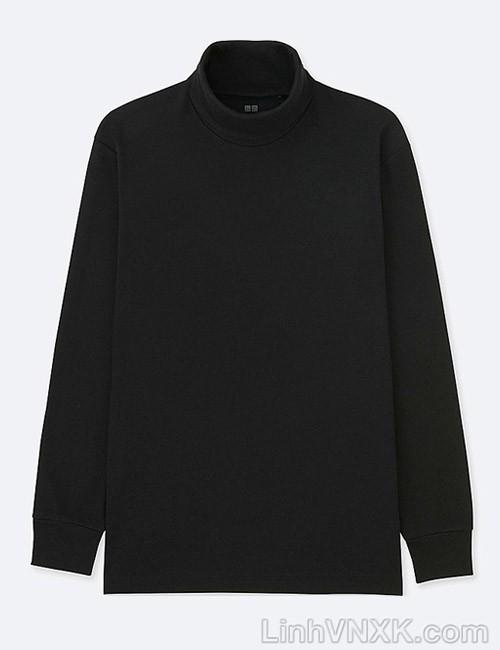 Áo thun nam cao cổ uniqlo xuất khẩu xịn màu đen