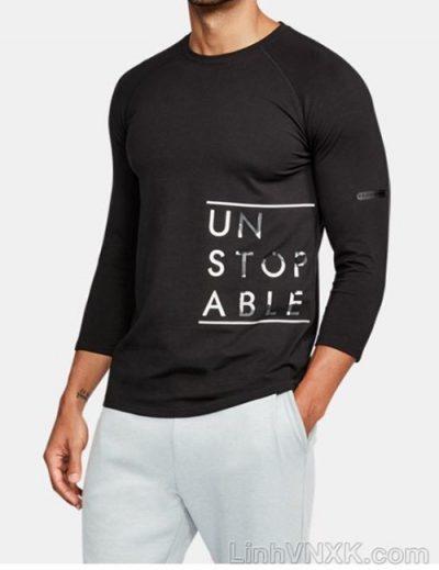 Áo thun nam tay lỡ Under armour màu đen