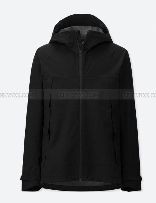 Áo khoác gió nam chống nước uniqlo màu đen