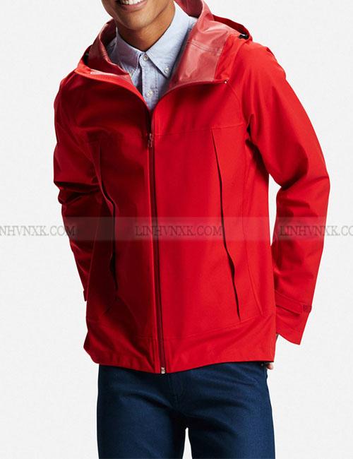 Áo khoác gió nam chống nước uniqlo màu đỏ