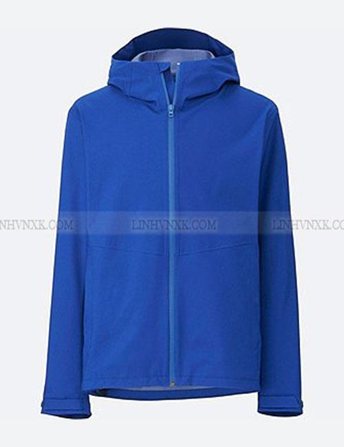 Áo khoác nam chống nước uniqlo blocktech parka xanhn blue