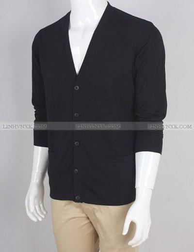 áo khoác nam cardigan cotton uniqlo màu đen