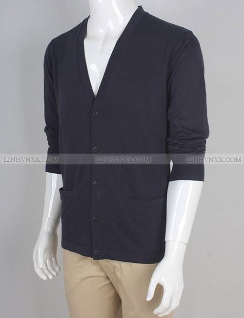 áo khoác nam cardigan cotton uniqlo màu chì