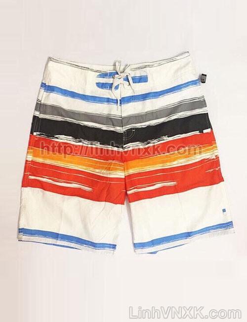 Quần bơi nam xuất nhật màu trắng cam