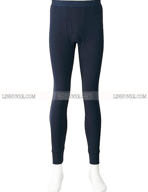 Quần giữ nhiệt nam heattech Uniqlo xuất khẩu màu xanh navy