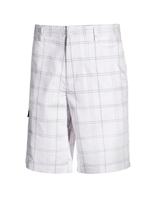 quần sooc golf nam big size Greg Norman kẻ caro trắng