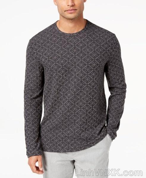 Áo len mỏng họa tiết Tasso màu ghi