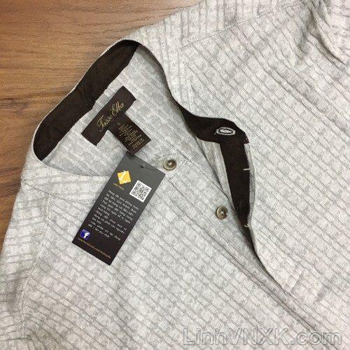 Áo len vặn thứng Tasso elba màu ghi sáng
