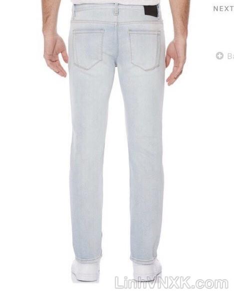 Quần jean nam Perry Ellis xanh trắng