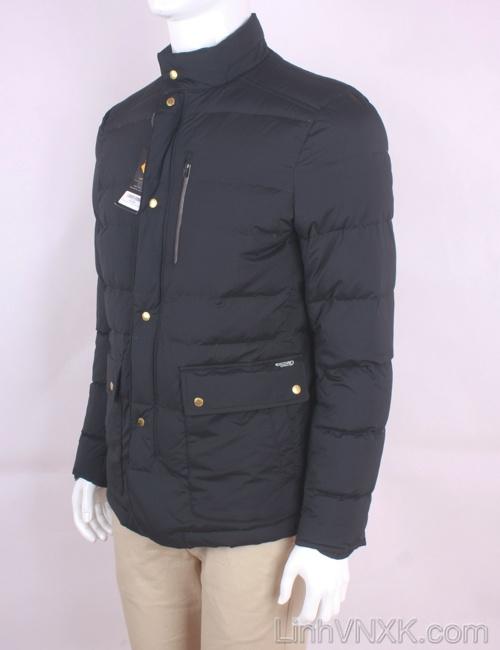 Áo khoác nam lông vũ xuất khẩu Hàn màu đen Discovery