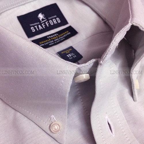 Áo sơ mi nam xuất khẩu dài tay công sở Stafford tím nhạt