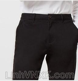 Quần kaki nam xuất khẩu Giordano túi nhỏ màu đen