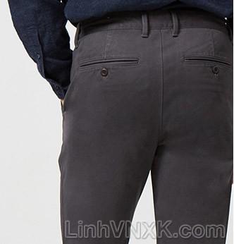 Quần kaki nam xuất khẩu Giordano túi nhỏ màu ghi xám