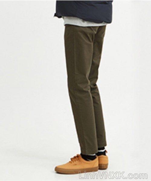 Quần kaki nam xuất khẩu Giordano slim màu xanh rêu đậm