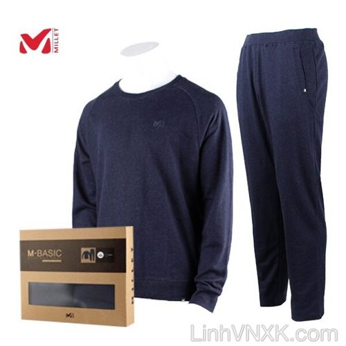 Bộ quần áo nỉ nam Millet xuất khẩu xịn màu xanh navy
