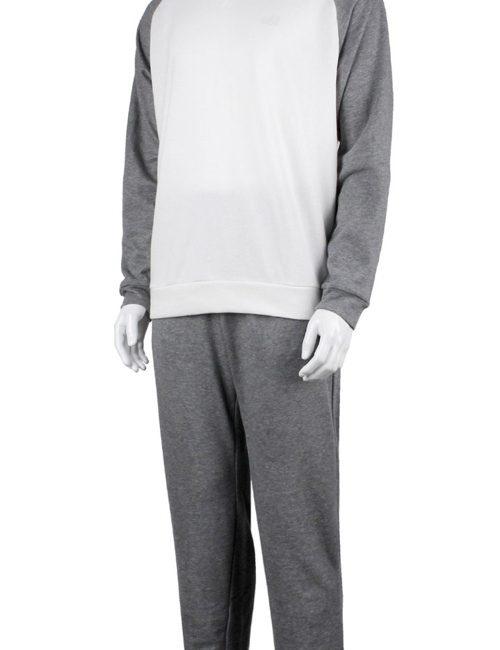 Bộ quần áo nỉ nam Millet xuất khẩu xịn màu ghi trắng