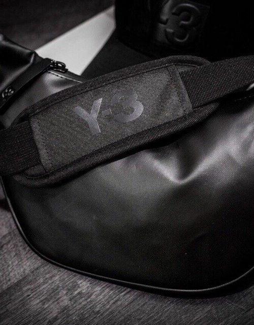 Túi đeo bụng Y3 chống nước màu đen
