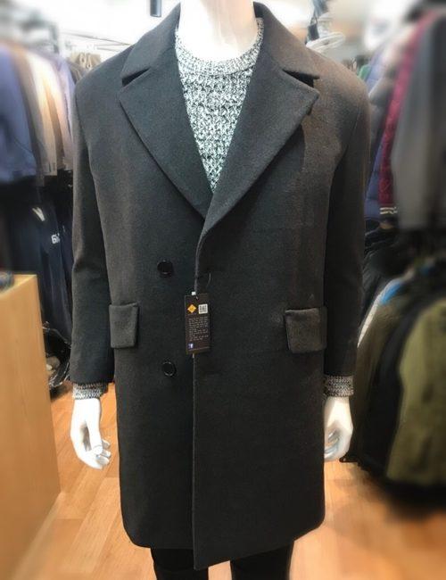 Áo khoác dạ nam Hàn quốc xuất khẩu màu lông chuột