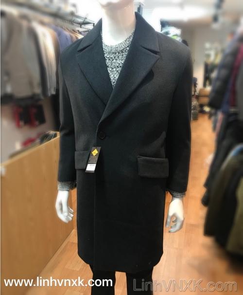 Áo khoác dạ nam Hàn quốc xuất khẩu màu xanh