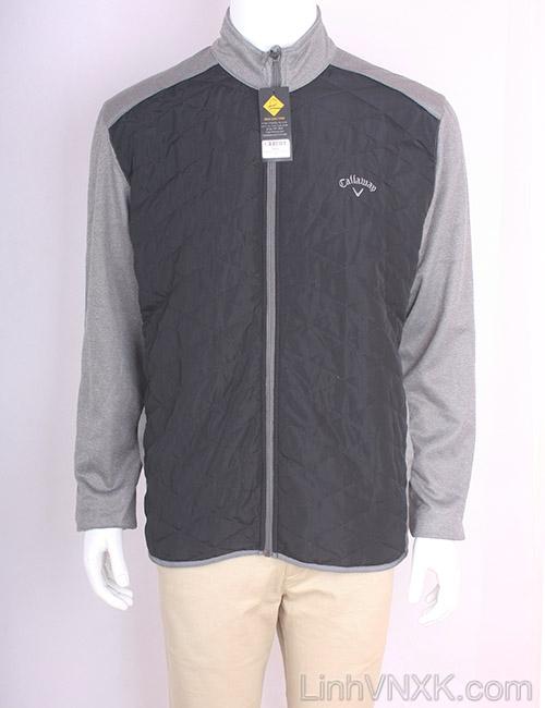Áo khoác golf callaway xuất khẩu màu đen tay ghi