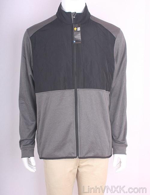 Áo khoác golf callaway xuất khẩu màu ghi ngực đen