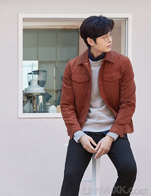 Áo khoác da lộn Hàn quốc The Class màu da bò