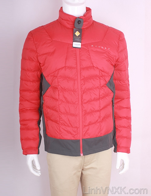 Áo khoác nam lông vũ nam xuất khẩu millet màu đỏ