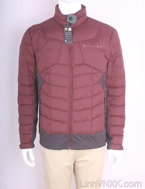Áo khoác nam lông vũ nam xuất khẩu millet màu đỏ mận