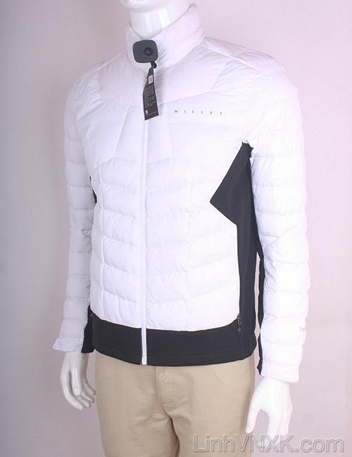 Áo khoác nam lông vũ nam xuất khẩu millet màu trắng