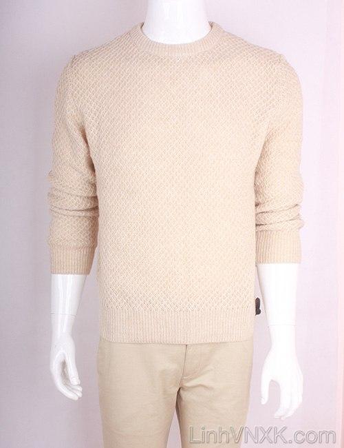 Áo len nam dày xuất Hàn màu be