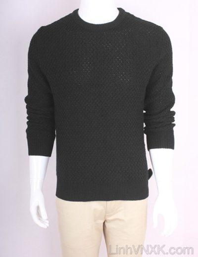 Áo len nam dày xuất Hàn màu đen