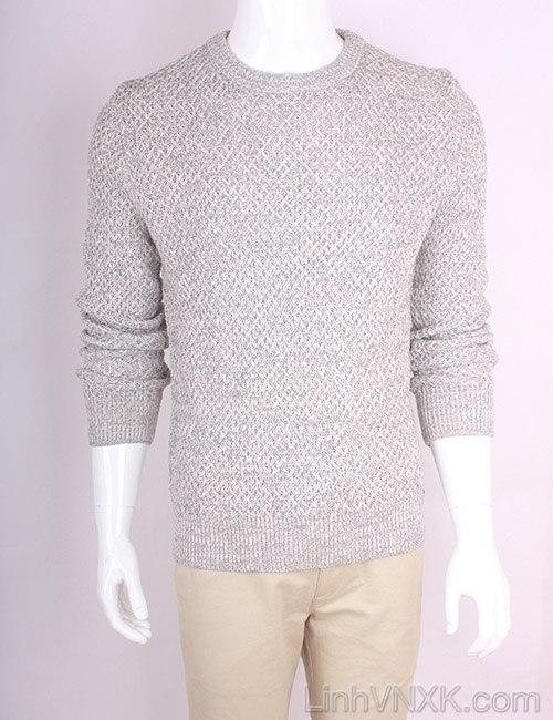 Áo len nam dày xuất Hàn màu ghi sáng