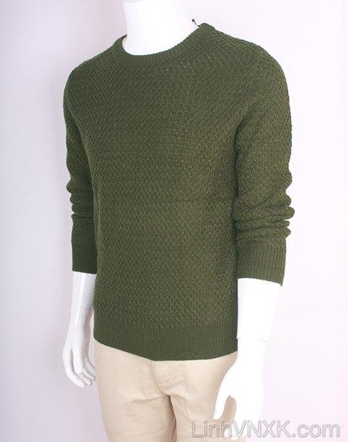Áo len nam dày xuất Hàn màu rêu