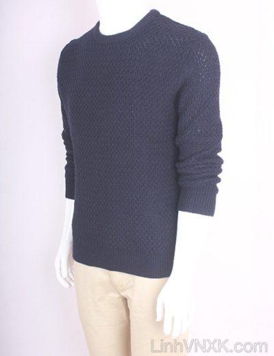 Áo len nam dày xuất Hàn màu xanh navy