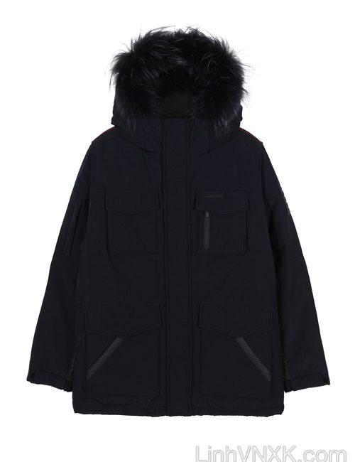 Áo khoác parka lông vũ nam xuất khẩu NII màu đen