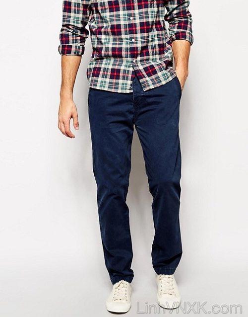 Quần kaki nam A&F xuất khẩu màu xanh navy