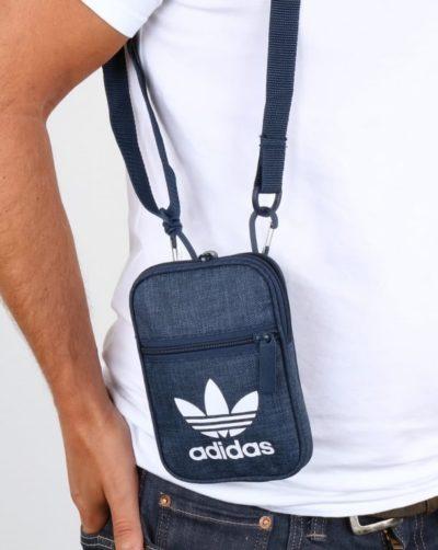 Túi xách vải mini bag adidas màu xanh jean