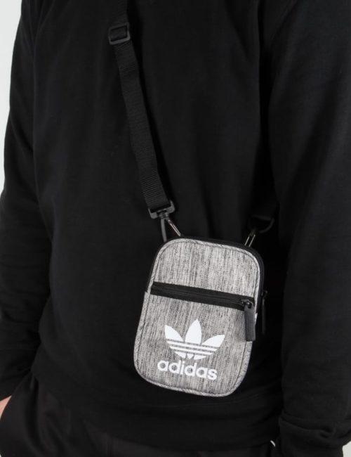Túi xách vải mini bag adidas màu ghi