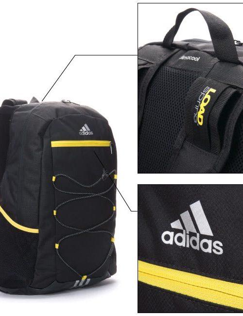 Balo Adidas big size màu đen vàng